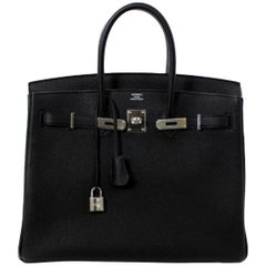 Hermès Birkin Black Togo 35 PHW Brand New In Box