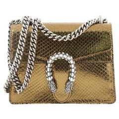 Gucci Dionysus Handbag Python with Embellished Detail Mini