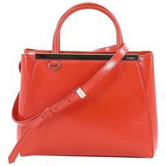 Fendi 2Jours Handbag Patent Petite