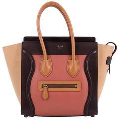Celine Multicolor Luggage Handbag Leather Micro