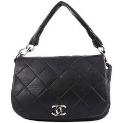 Chanel Flap Messenger Bag Quilted Calfskin Medium