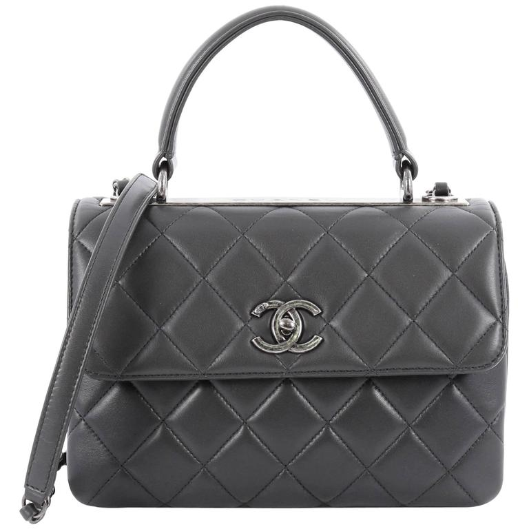 b0bf5ed629e16e Chanel Trendy CC Top Handle Bag Quilted Lambskin Small at 1stdibs