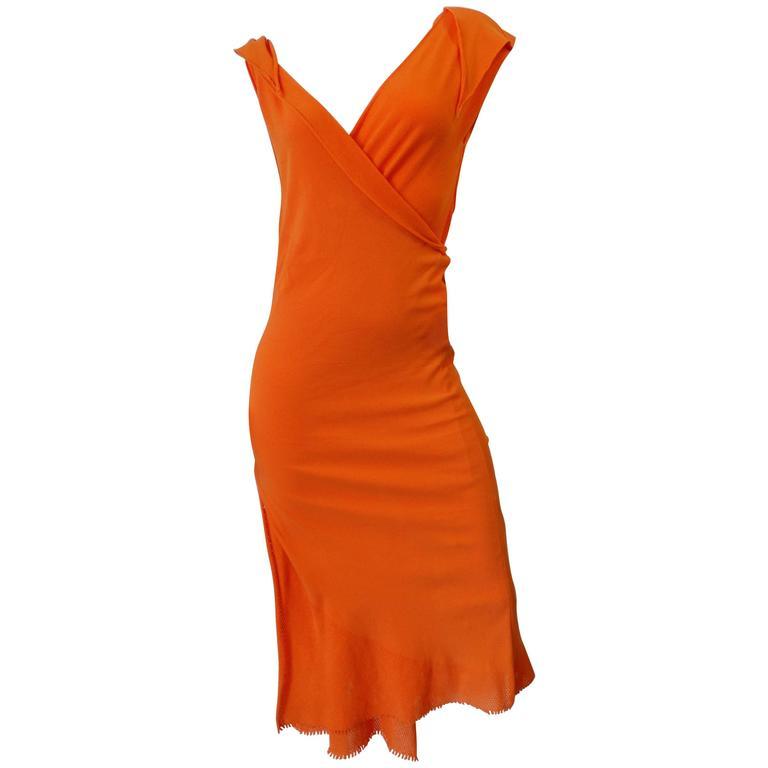 Documented 2005 A-POC by Issey Miyake & Dai Fujiwara 2-Piece Orange Dress Set