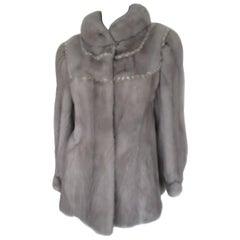 Saga Furs Soft Sapphire Mink Fur Jacket