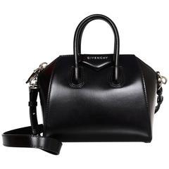 Givenchy Black Leather Mini Antigona Satchel Bag
