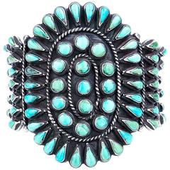Monster Navajo Turquoise Cuff Bracelet
