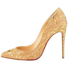 Christian Louboutin New Nude Cork Fleck Pigalle Follie High Heels Pumps in Box