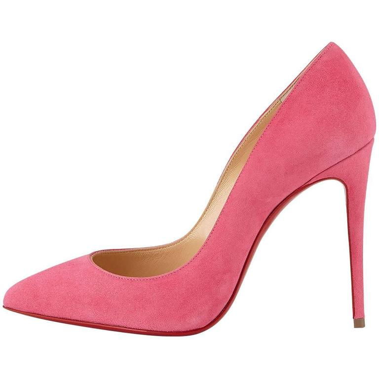 Christian Louboutin New Pink Suede Pigalle Follie High Heels Pumps in Box