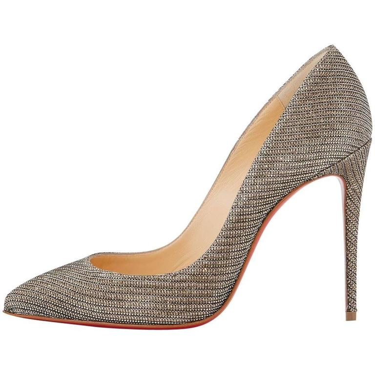 Christian Louboutin New Metallic Chain Pigalle Follie High Heels Pumps in Box