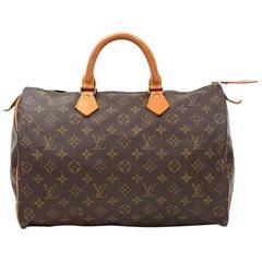 Vintage Louis Vuitton Speedy 35 Monogram Canvas City Hand Bag