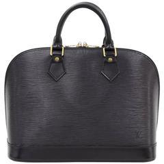 Vintage Louis Vuitton Alma Black Epi Leather Hand Bag