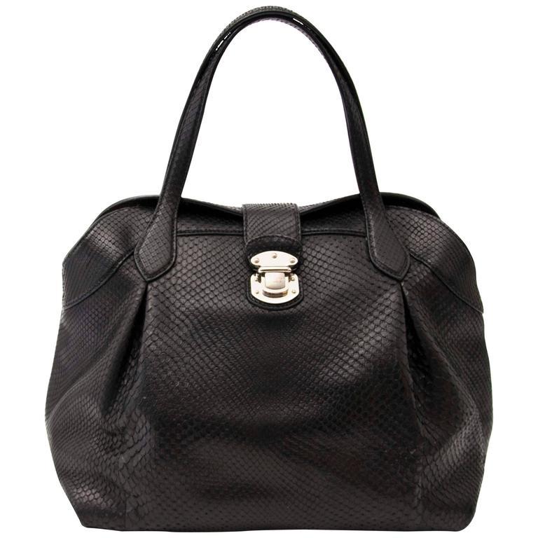 Louis Vuitton Limited Python Top Handle Bag