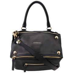 Givenchy Black Pandora Medium Leather Satchel Bag
