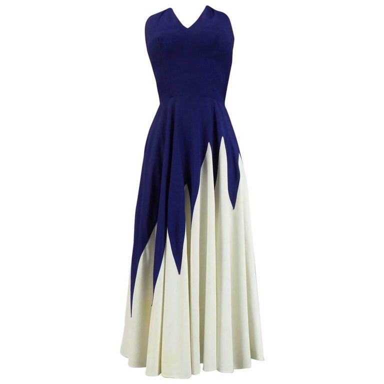 Henry à la Pensée Dress, circa 1950 For Sale