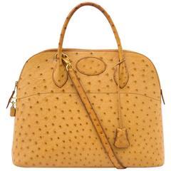 Hermes Ostrich Bolide 34 Bag