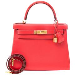Hermes Kelly 28 Capucine Evercolor