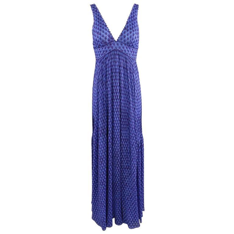 Missoni Runway Purple Knit Resort Maxi Dress / Gown 1