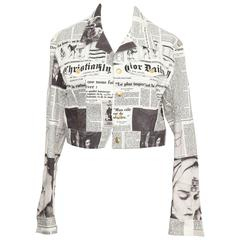 Christian Dior by John Galliano Newspaper Denim Jacket