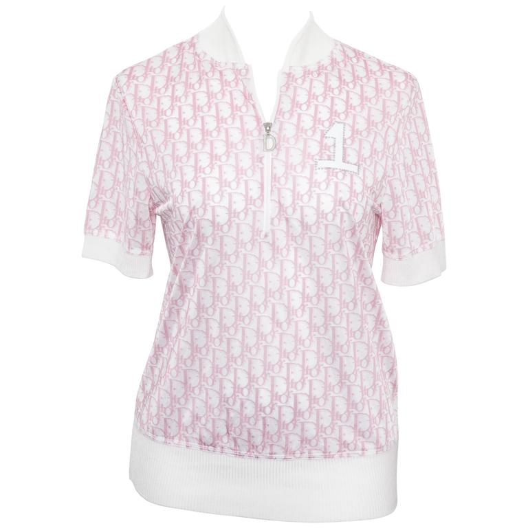 John Galliano for Christian Dior Pink Trotter Logo Shirt