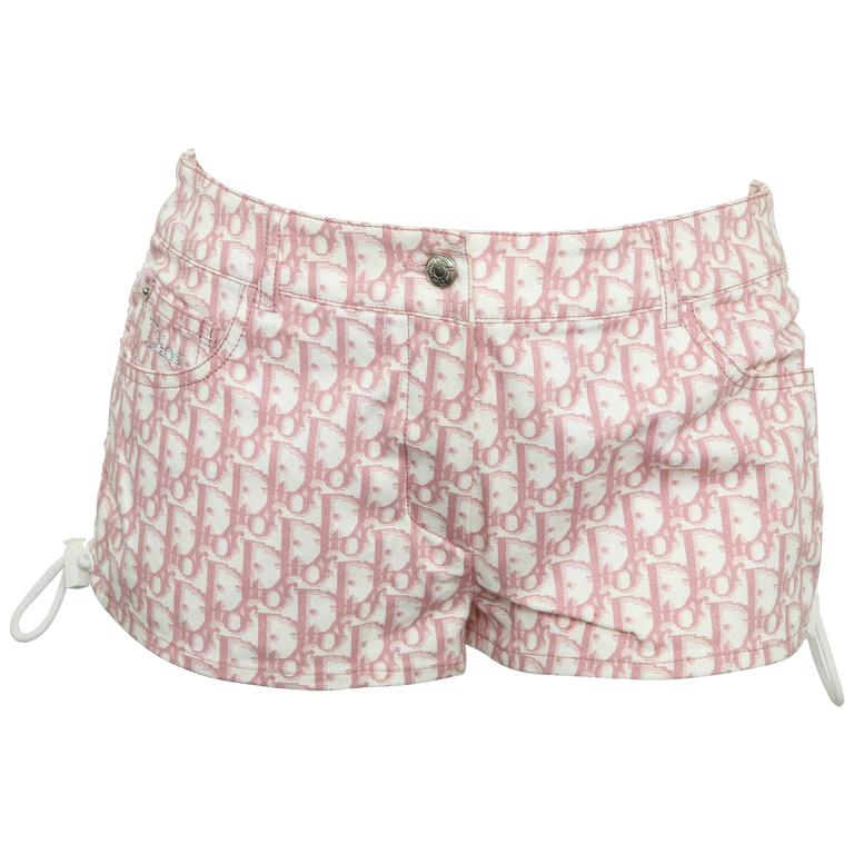 John Galliano for Christian Dior Pink Trotter Logo shorts