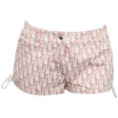 Christian Dior by John Galliano Pink Trotter Logo shorts