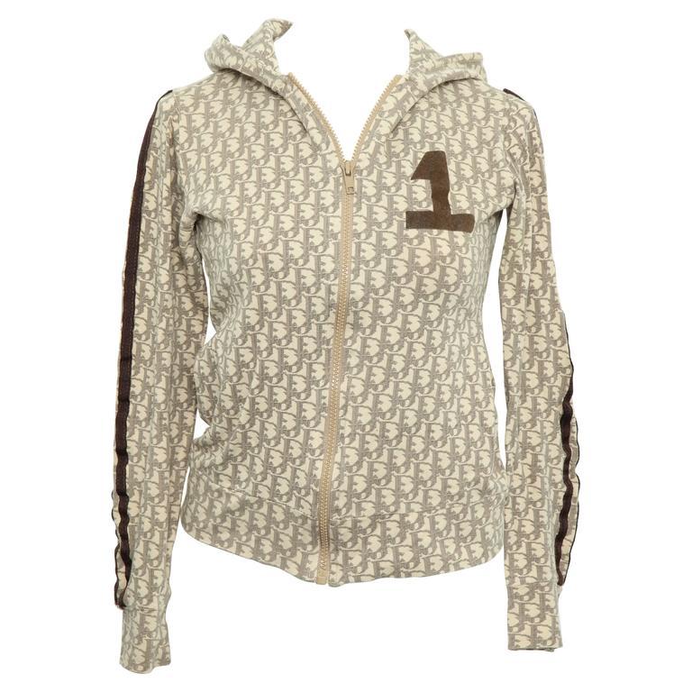 John Galliano for Christian Dior Light Brown Trotter Logo Sweatshirt 1