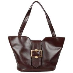 ROBERTA DI CAMERINO Brown Leather TOTE Shoulder Bag