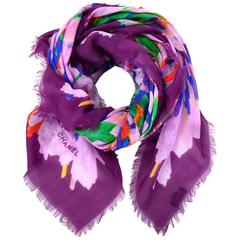 Chanel NEW WITH TAGS 2017 Multicolor Cashmere Scarf rt. $1,100