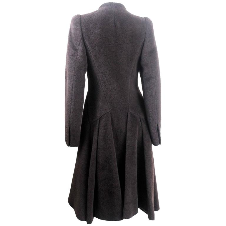 Alexander McQueen 2000 Collection Mohair and Alpaca Coat For Sale