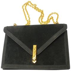 FANTASTIC Hermes Alcazar bag Black Suede with black Lambskin / Collector piece