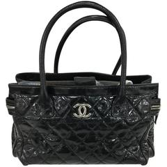 Chanel Executive Tote Quilted Glazed Calfskin Medium