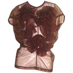 Comme des Garcons 1990 Collection Pleated Flower Design Top