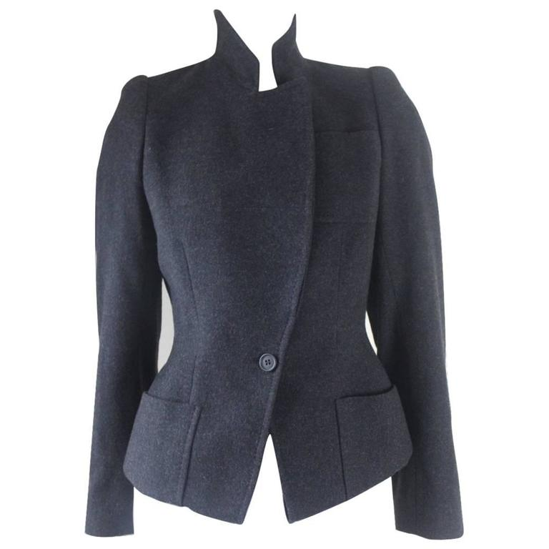 Alexander McQueen 2000 Collection Wool and Cashmere Runway Jacket