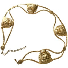 1970s Lion Buckles Chain Belt