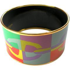 Hermes Optique Chaine D'Ancre Enamel Bracelet  Large size 6.5 cm / BRAND NEW