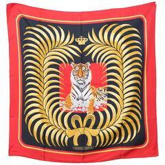 Rare Hermes Tigre Royal Silk Scarf