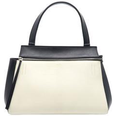Celine Edge Black/White Calfskin Leather Shoulder Bag