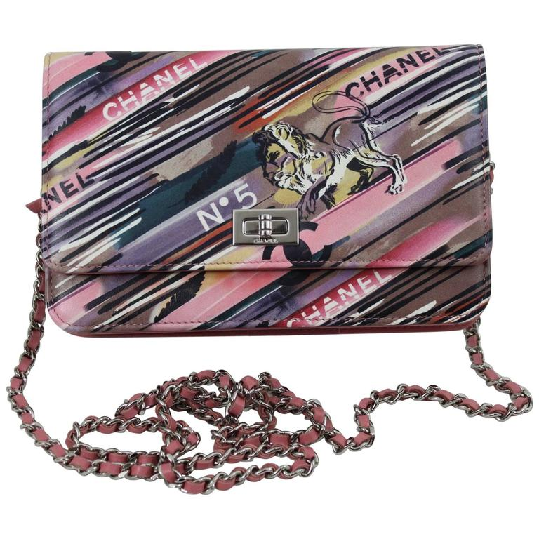 Chanel Runway Sample Wallet on Chain (WOC) in Ppink Leather  1