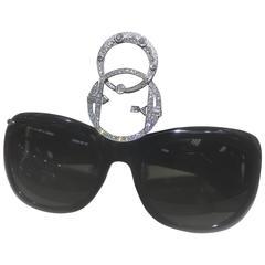 STACY ENGMAN ART ROYALTY - 2 Ct Diamond Sunglasses-Tiara In Platinum