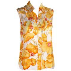 Vintage Hermès silk blouse
