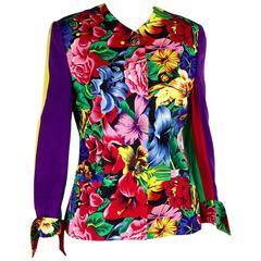 1990s Versus Gianni Versace Multicolor Floral jacket