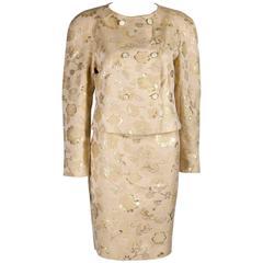 Valentino vintage brocade skirt suit