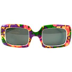 Mod 1960's Sunglasses - Psychadelic Design