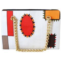 1960s Emilio Pucci Geometric Silk Bag