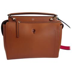 Fendi Calf Skin Tan Handbag