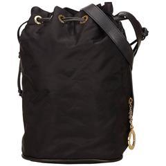 Celine Black Nylon Shoulder Bag
