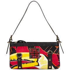 Givenchy Red Printed Canvas Shoulder Bag