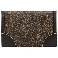 Prada Black Leather Clutch