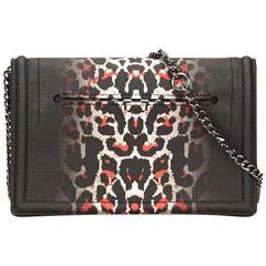 Alexander Mcqueen Black Leopard Print Gradient PVC Chain Shoulder Bag
