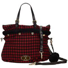 Mulberry Black Wool Tote Bag